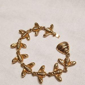 Joan Rivers vintage bee and hive bracelet